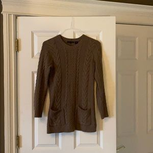 Jeanne Pierre brown crew neck knit sweater